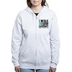Walk Ovarian Cancer Women's Zip Hoodie