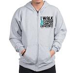 Walk Ovarian Cancer Zip Hoodie