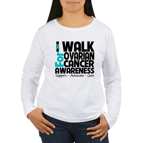 Walk Ovarian Cancer Women's Long Sleeve T-Shirt