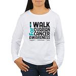 Walk Ovarian Cancer Women's Long Sleeve T-Shirt