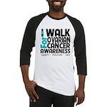 Walk Ovarian Cancer Baseball Jersey