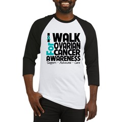 Walk Ovarian Cancer Baseball Jersey