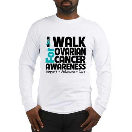 Walk Ovarian Cancer Long Sleeve T-Shirt