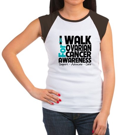 Walk Ovarian Cancer Women's Cap Sleeve T-Shirt