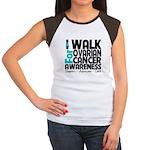 Walk Ovarian Cancer Women's Cap Sleeve T-Shirt