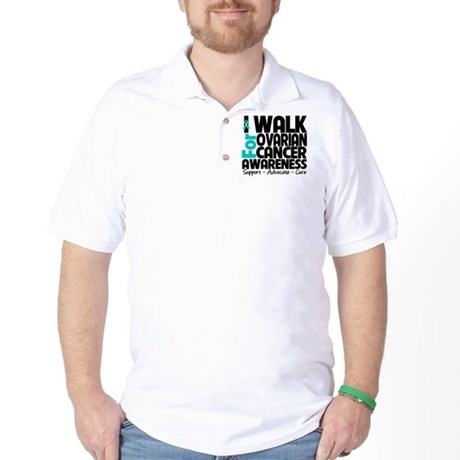 Walk Ovarian Cancer Golf Shirt