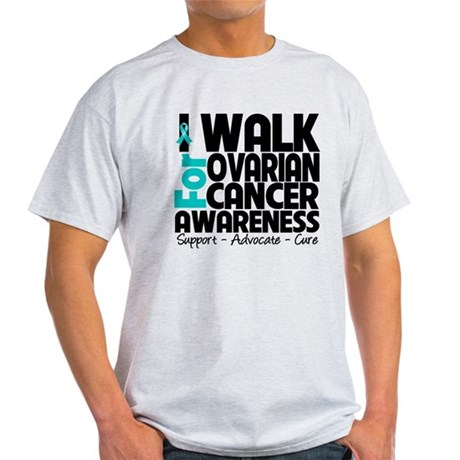 Walk Ovarian Cancer Light T-Shirt