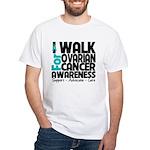 Walk Ovarian Cancer White T-Shirt