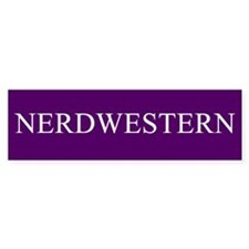 Nerdwestern University Bumper Sticker