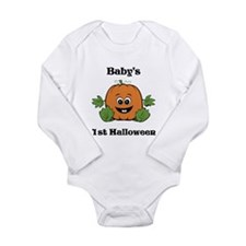 [NAME]'s 1st Halloween Pumpkin Long Sleeve Infant