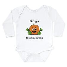 [NAME]'s 1st Halloween Pumpkin Onesie Romper Suit