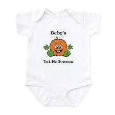[NAME]'s 1st Halloween Pumpkin Infant Bodysuit
