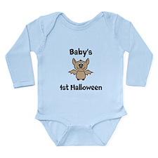 [NAME]'s 1st Halloween Bat Long Sleeve Infant Body