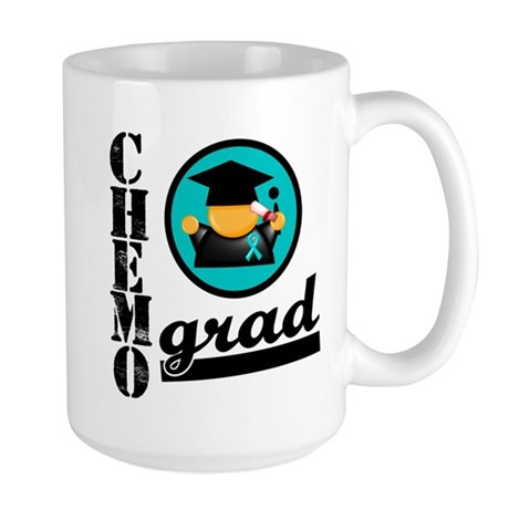 Chemo Grad Ovarian Cancer Large Mug