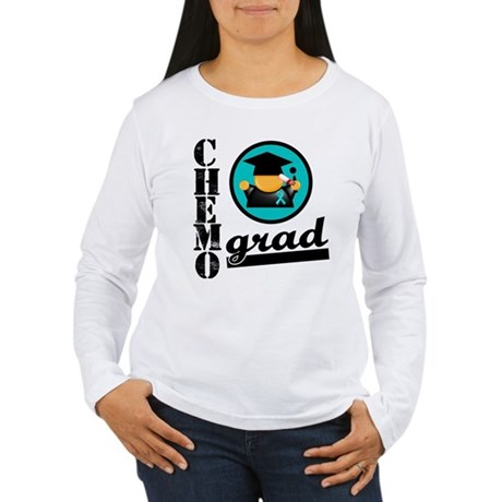 Chemo Grad Ovarian Cancer Women's Long Sleeve T-Sh