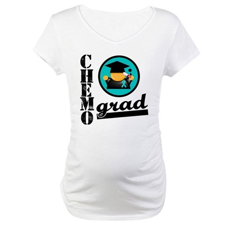 Chemo Grad Ovarian Cancer Maternity T-Shirt