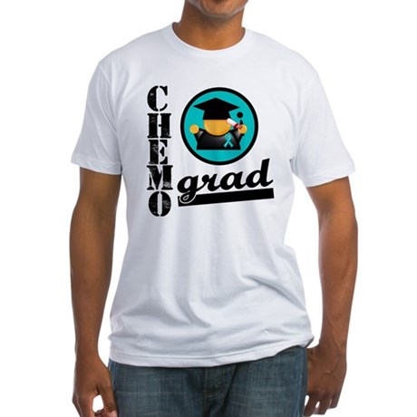 Chemo Grad Ovarian Cancer Fitted T-Shirt