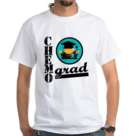 Chemo Grad Ovarian Cancer White T-Shirt