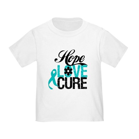 Hope Love Cure Ovarian Cancer Toddler T-Shirt