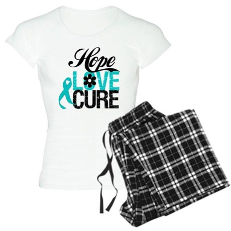 Hope Love Cure Ovarian Cancer Women's Light Pajama