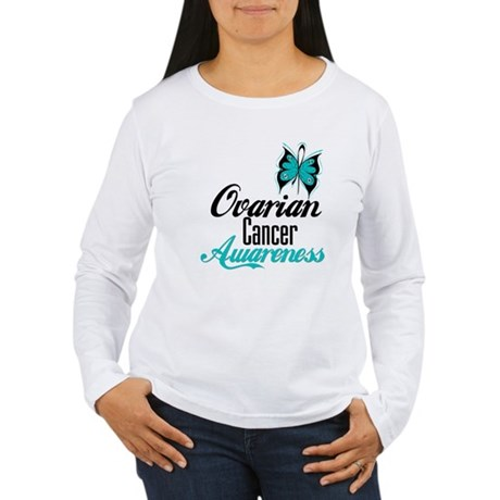Ovarian Cancer Awareness Women's Long Sleeve T-Shi