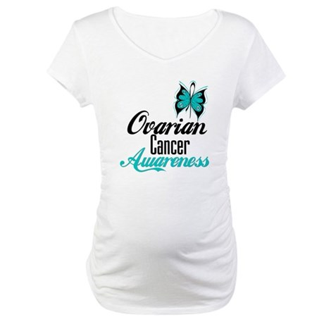 Ovarian Cancer Awareness Maternity T-Shirt