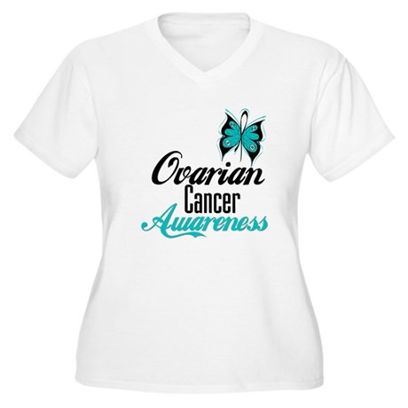 Ovarian Cancer Awareness Women's Plus Size V-Neck