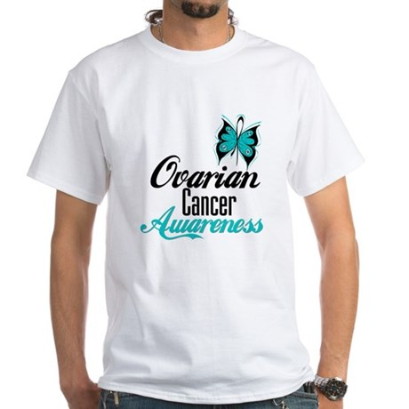 Ovarian Cancer Awareness White T-Shirt