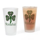 Donahue Shamrock Pint Glass
