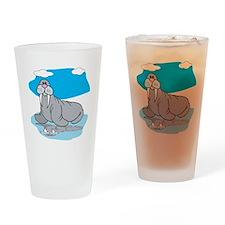 Cute Grey Walrus Pint Glass