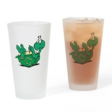 Scared Little Turtle Pint Glass