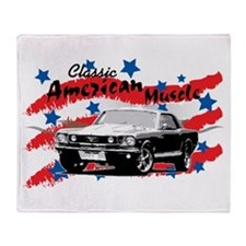 American Muscle Series '65 Mustang Throw Blanket