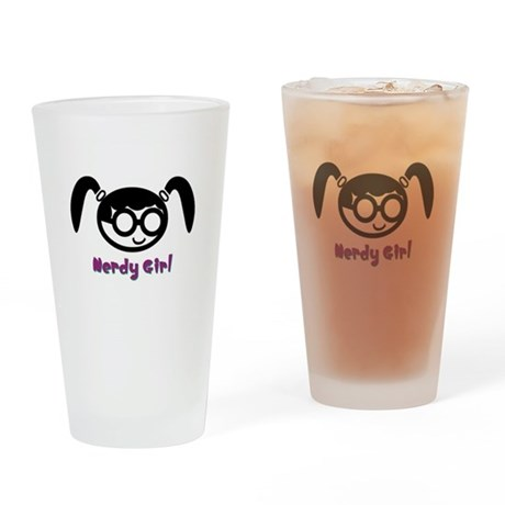 Nerdy Girl Pint Glass