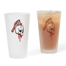 Bloody Axed Skull Pint Glass