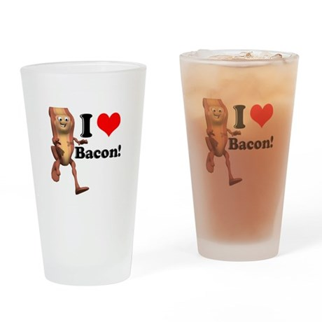 I Heart (Love) Bacon Pint Glass