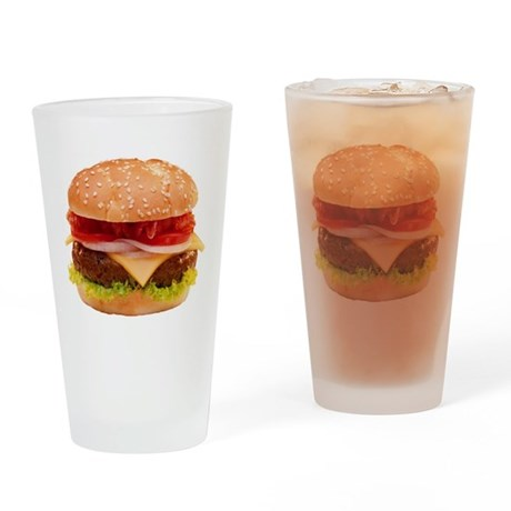 Cheeseburger Pint Glass