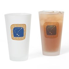 Capricorn Constellation Desig Pint Glass