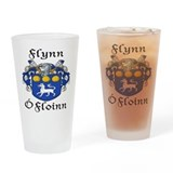 Flynn In Irish &amp; English Pint Glass
