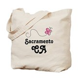 Pretty Sacramento California Tote Bag