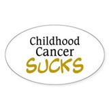 Childhood Cancer Sucks Oval Decal
