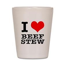 I Heart (Love) Beef Stew Shot Glass