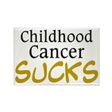 Childhood Cancer Sucks Rectangle Magnet