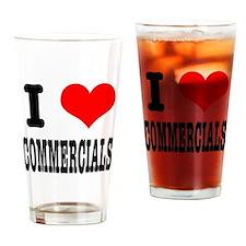 I Heart (Love) Commercials Pint Glass
