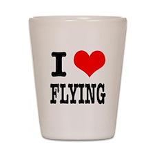 I Heart (Love) Flying Shot Glass