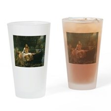 Lady of Shalott by JW Waterhouse Drinking Glass