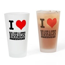I Heart (Love) Massages Pint Glass