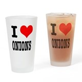 I Heart (Love) Onions Pint Glass