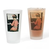 Child Playing the Piano Pint Glass