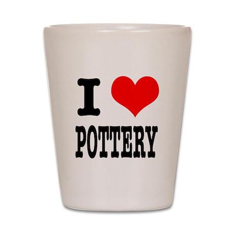 I Heart (Love) Pottery Shot Glass
