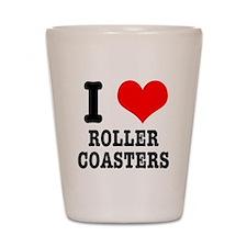 I Heart (Love) Roller Coaster Shot Glass